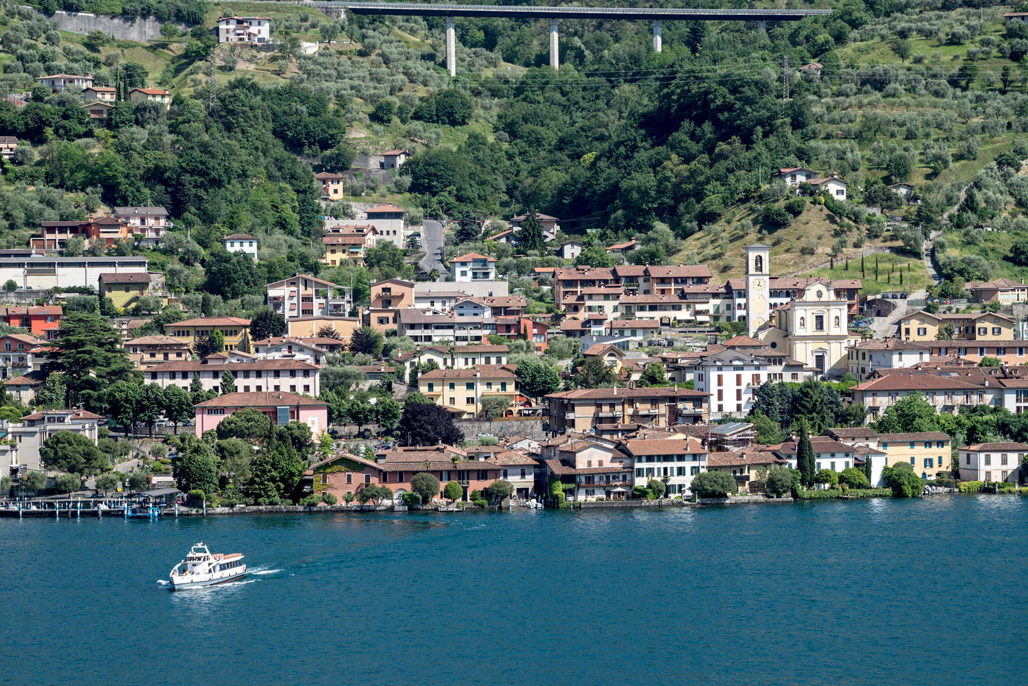 The town of Sulzano, Lake Iseo