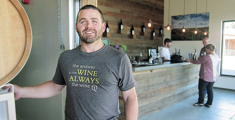 Cody Wright in his new tasting room and winery.