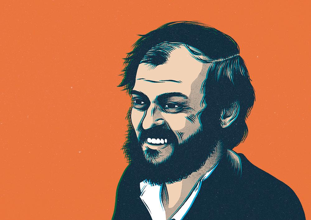 Stanley Kubrick's portrait.