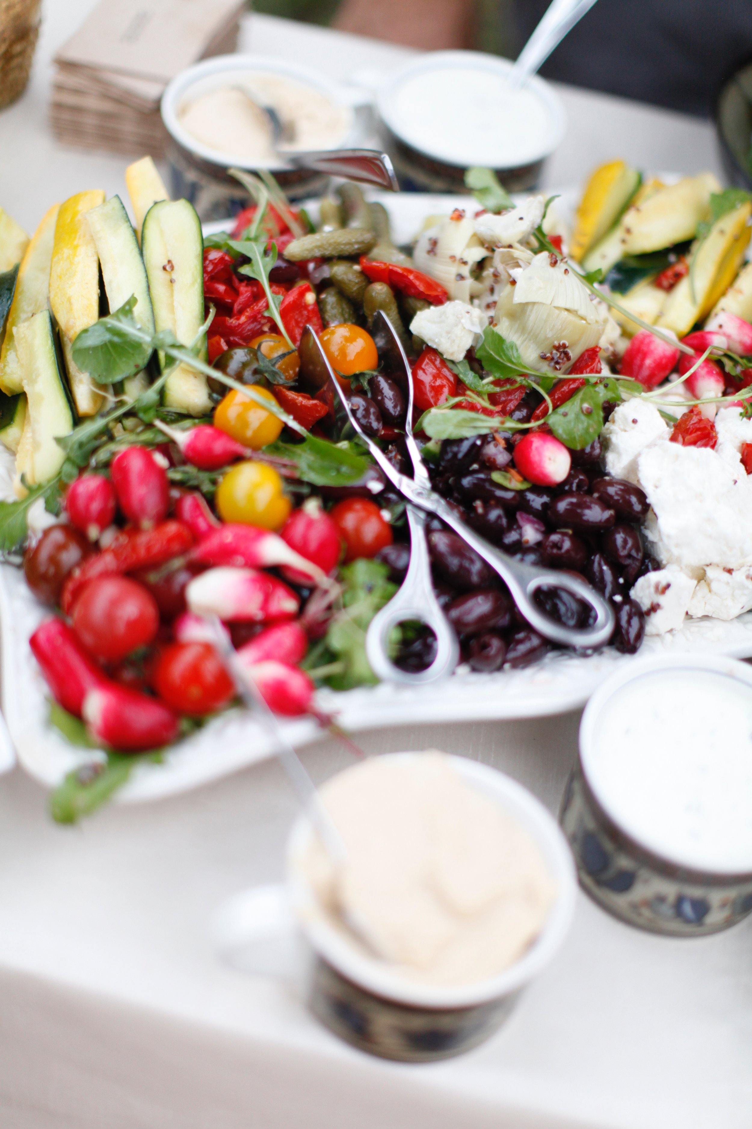 E.A.T Marketplace of Temecula donated their famous Mediterranean Party Platter for out guest.