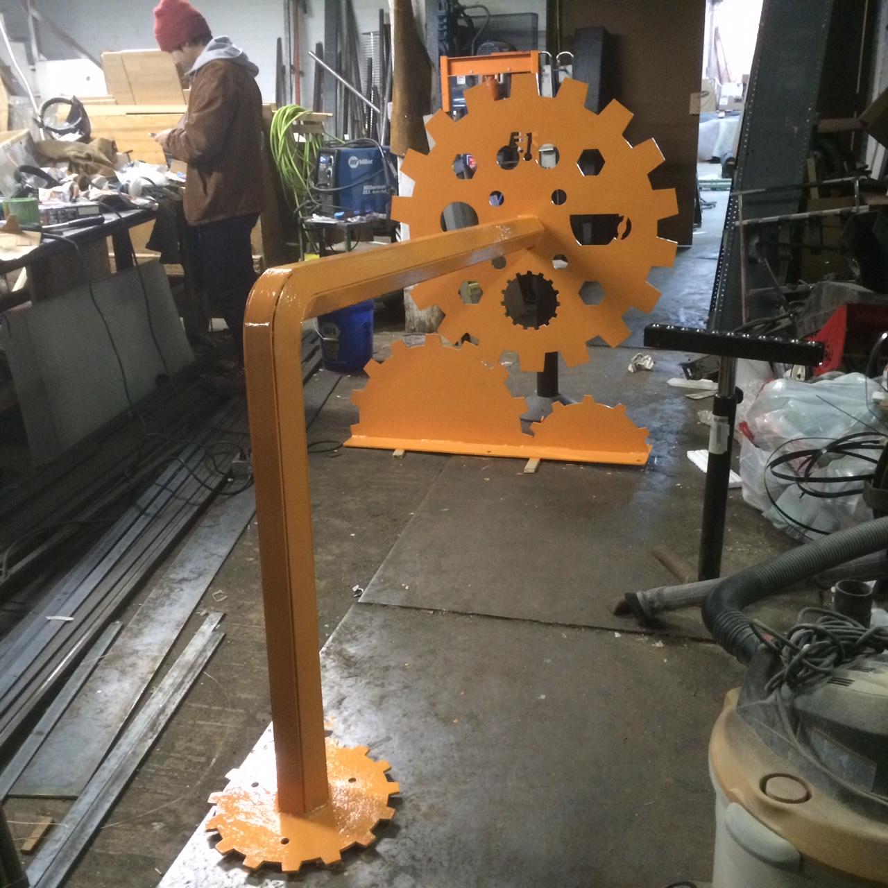 Co-works custom made Bike Rack