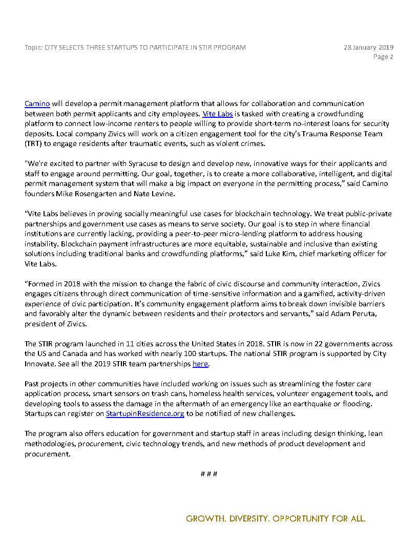 2019 01 28 PRESS RELEASE City Announces Three Startups Selected for STIR Program_Page2.jpg