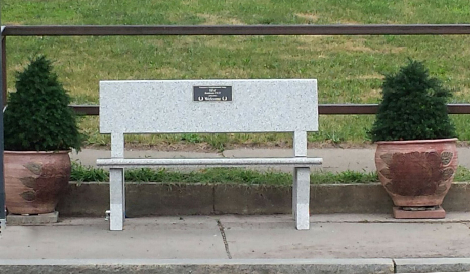 2016 Granite bench on South Salina St.