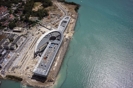 Aerial view of MACTe under construction Photo