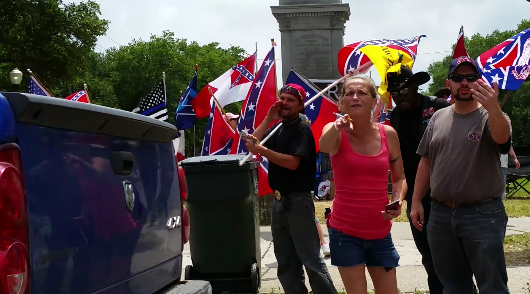Confederate Protesters in New Orleans 2017