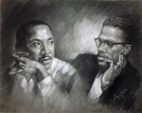 Martin Luther King Jr. and Malcom X.