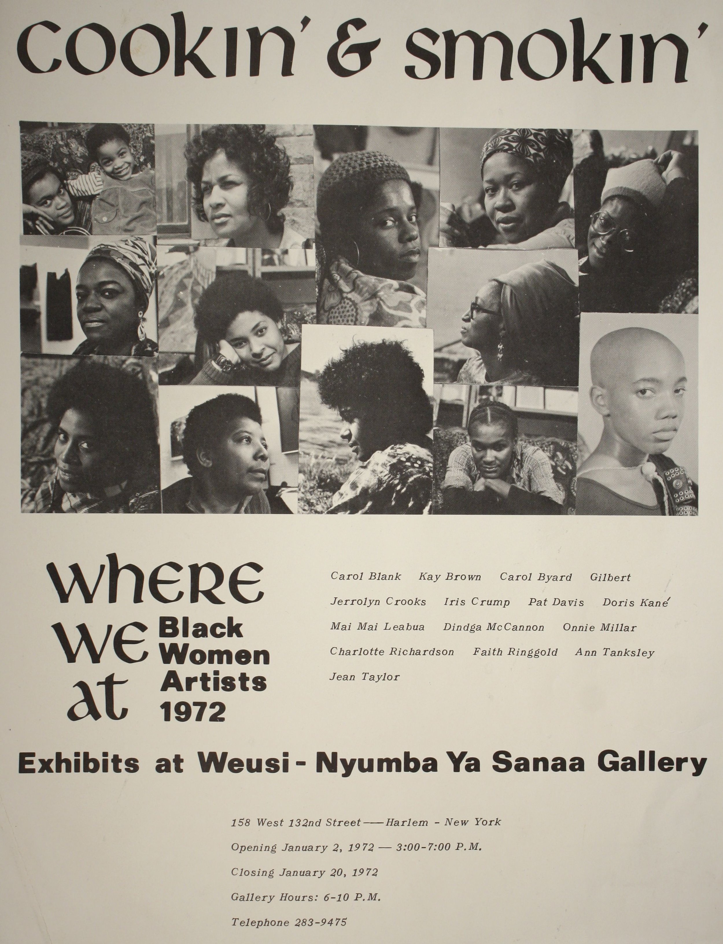 """3) Where we at collective.  Cookin' and Smokin""""  1972. Offset printed poster. 14 x 11 inches."""