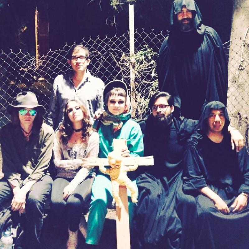 Photo from music video VAD, shot in Ikatepec, Mexico with Vete al Diablo. Pictured:   Nick Zedd   ,   Eduardo Solano Berber   ,   Giordana Guzmán   ,   Emma Penrose ,  ,   Irving Canseco   and    MeMo Rec   .