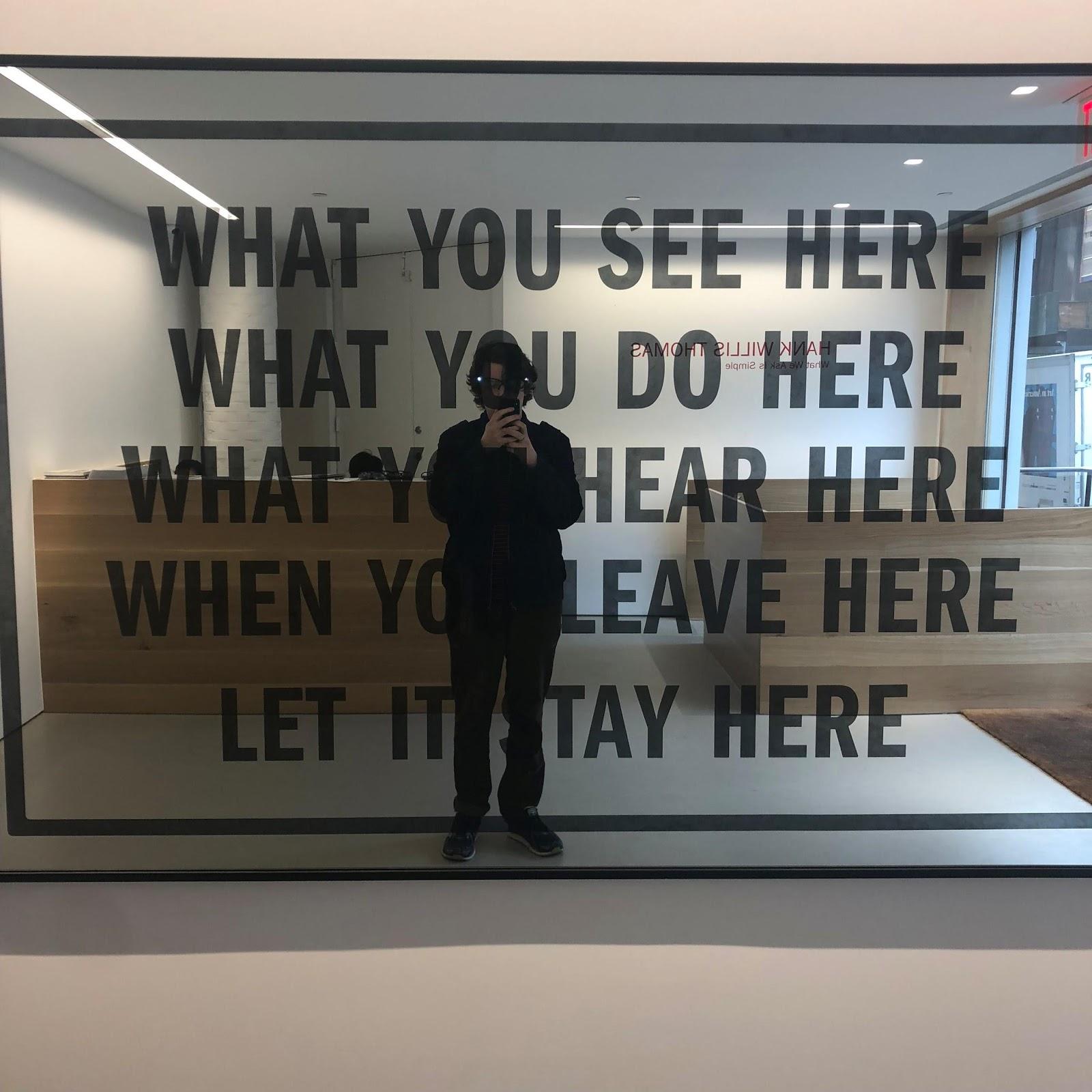 """What You See Here/What You Do Here/What You Hear Here/What You Leave Here/Let it Stay Here, 2018"
