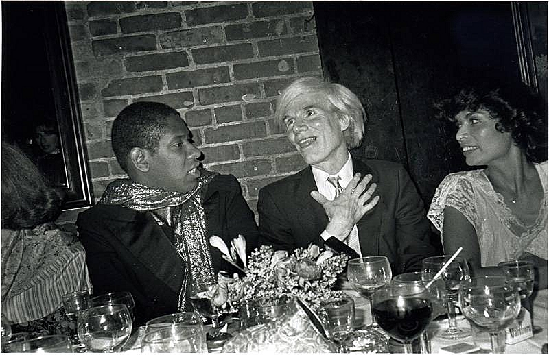 Andre Leon Talley, Andy Warhol and Bianca Jagger by Bob Colacello