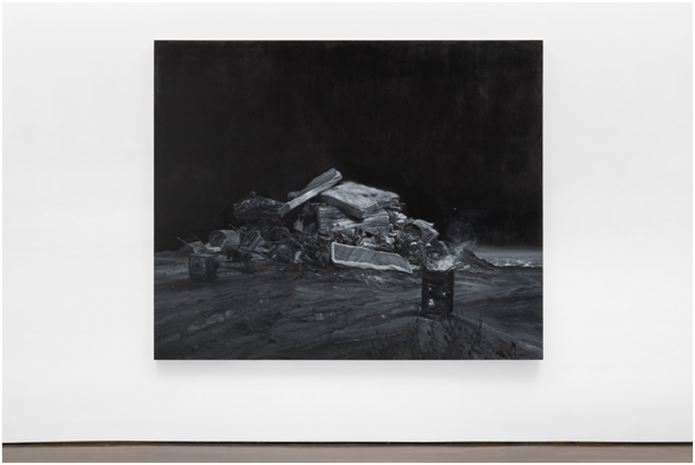 Vincent Valdez,  The City II , 2016, Oil on canvas, 74 x 90 in.     Blanton Museum of Art, The University of Texas at Austin, Purchase through the generosity of Guillermo C. Nicolas and James C. Foster in honor of Jeanne and Michael Klein, with additional support from Jeanne and Michael Klein and Ellen Susman in honor of Jeanne and Michael Klein, 2017   ©Vincent Valdez