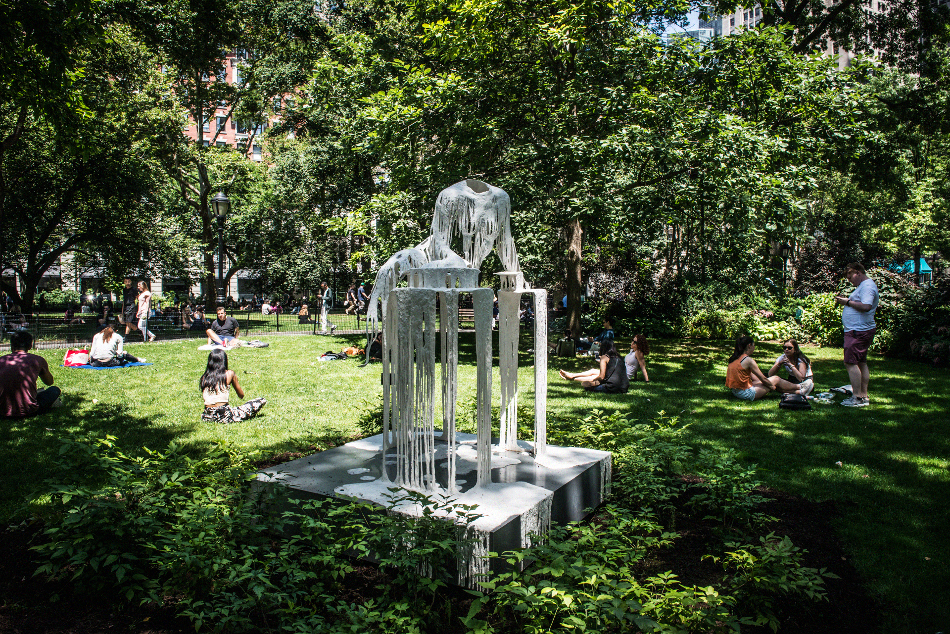 """Delirious Matter"" by artist Diana Al-Hadid 