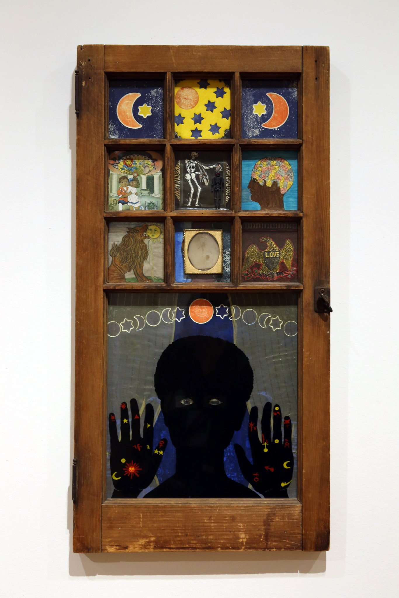 "Betye Saar's ""Black Girl's Window"" (1969), featured in the exhibition ""Take an Object"" at MoMA.CreditHiroko Masuike/The New York Times"