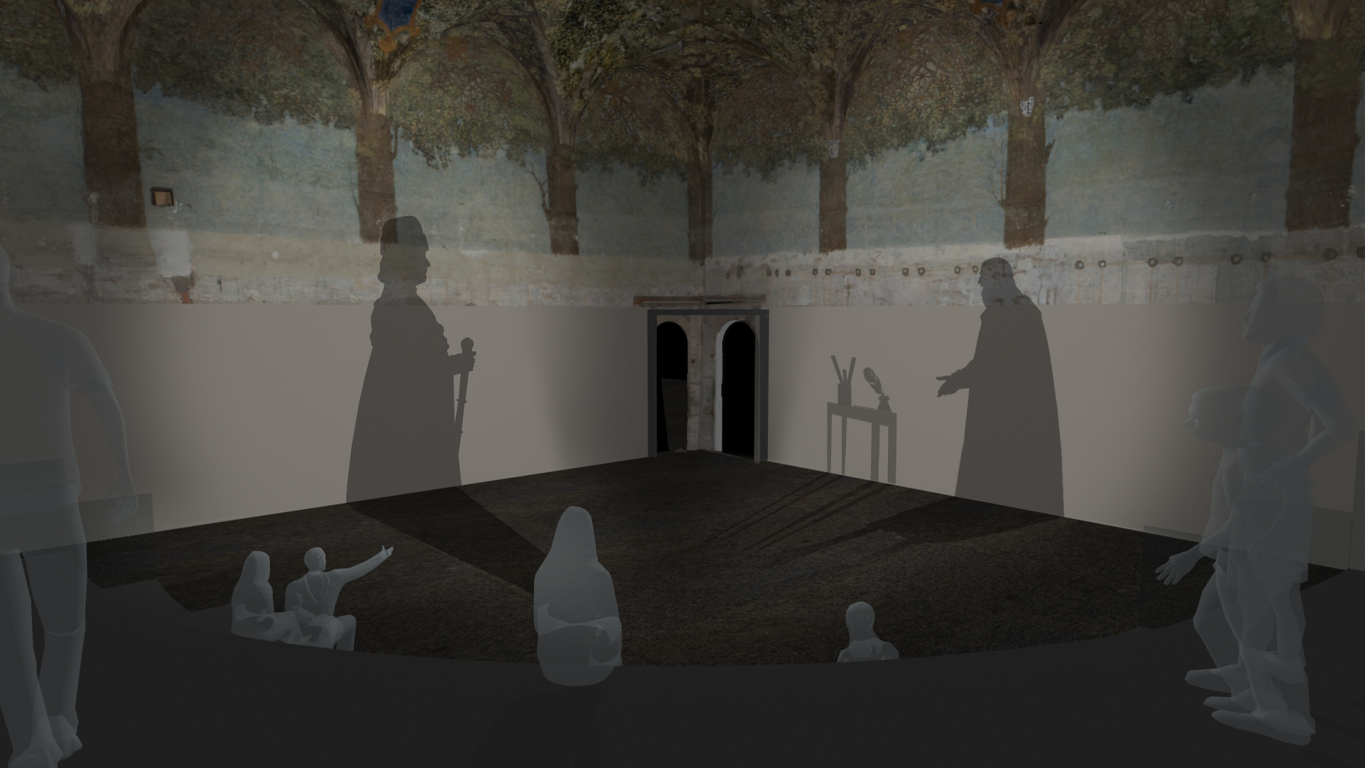 Rendering of multimedial projection    Project by Culturanuova s.r.l. - Massimo Chimenti