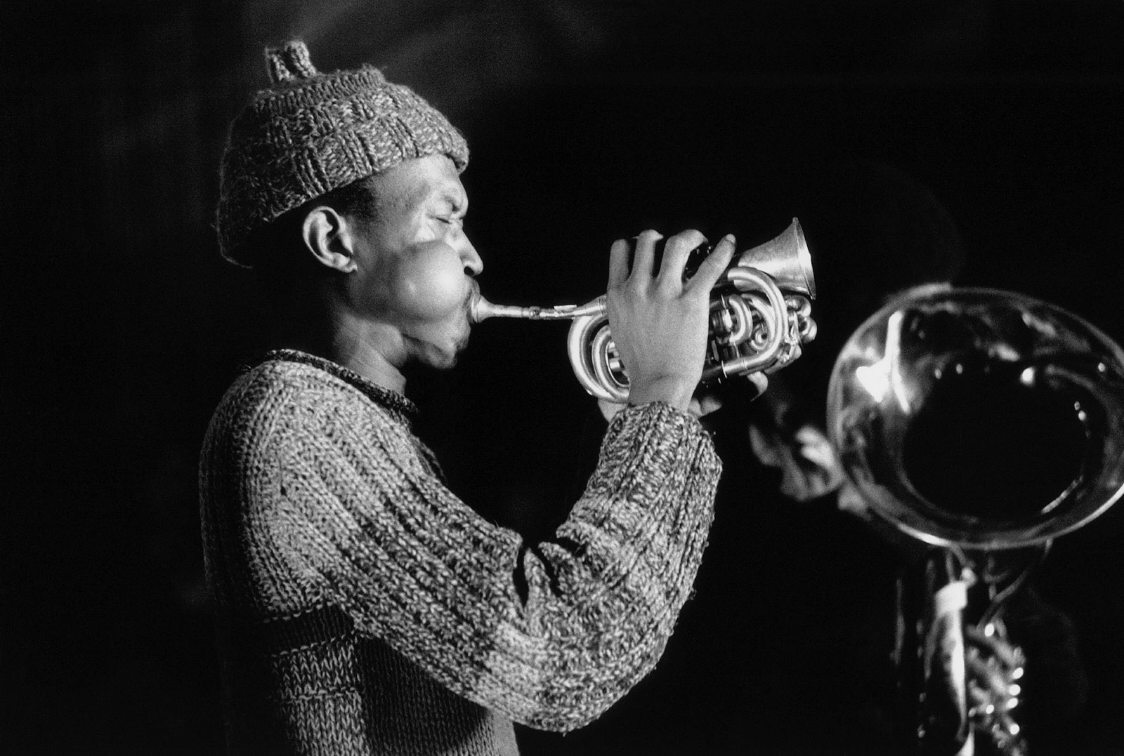 Don Cherry at the Amougies Festival, Belgium, 1969  ( Guy Le Querrec/Magnum Photos)