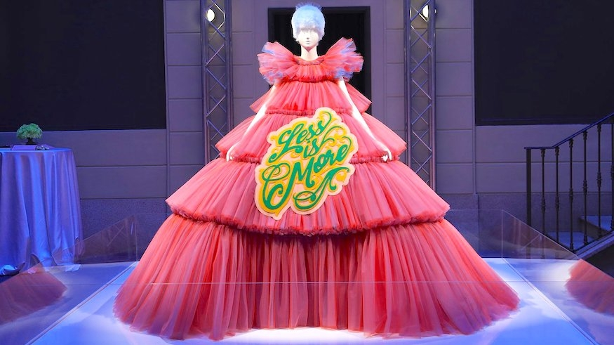 "Viktor & Rolf's ""Less is More"" gown. 