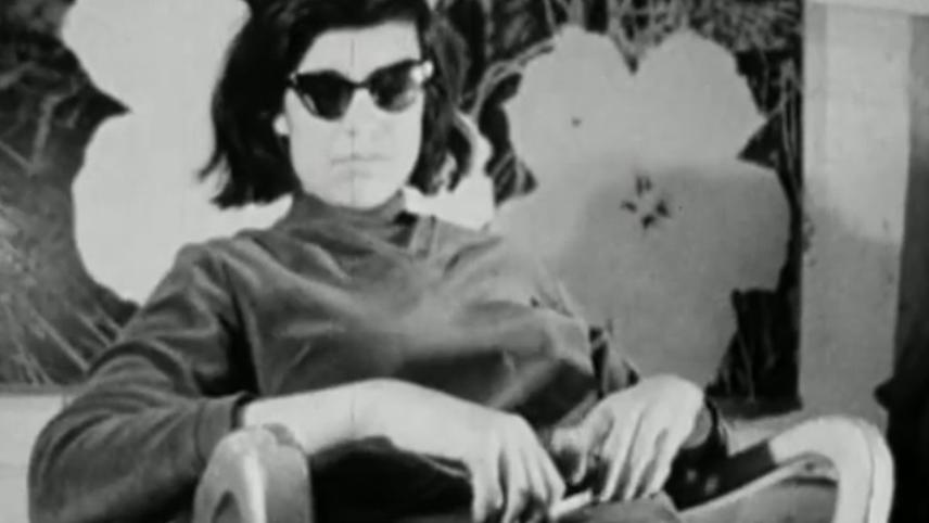 Susan Sontag from Warhol's 1964 screen test. | Metropolitan Museum of Art