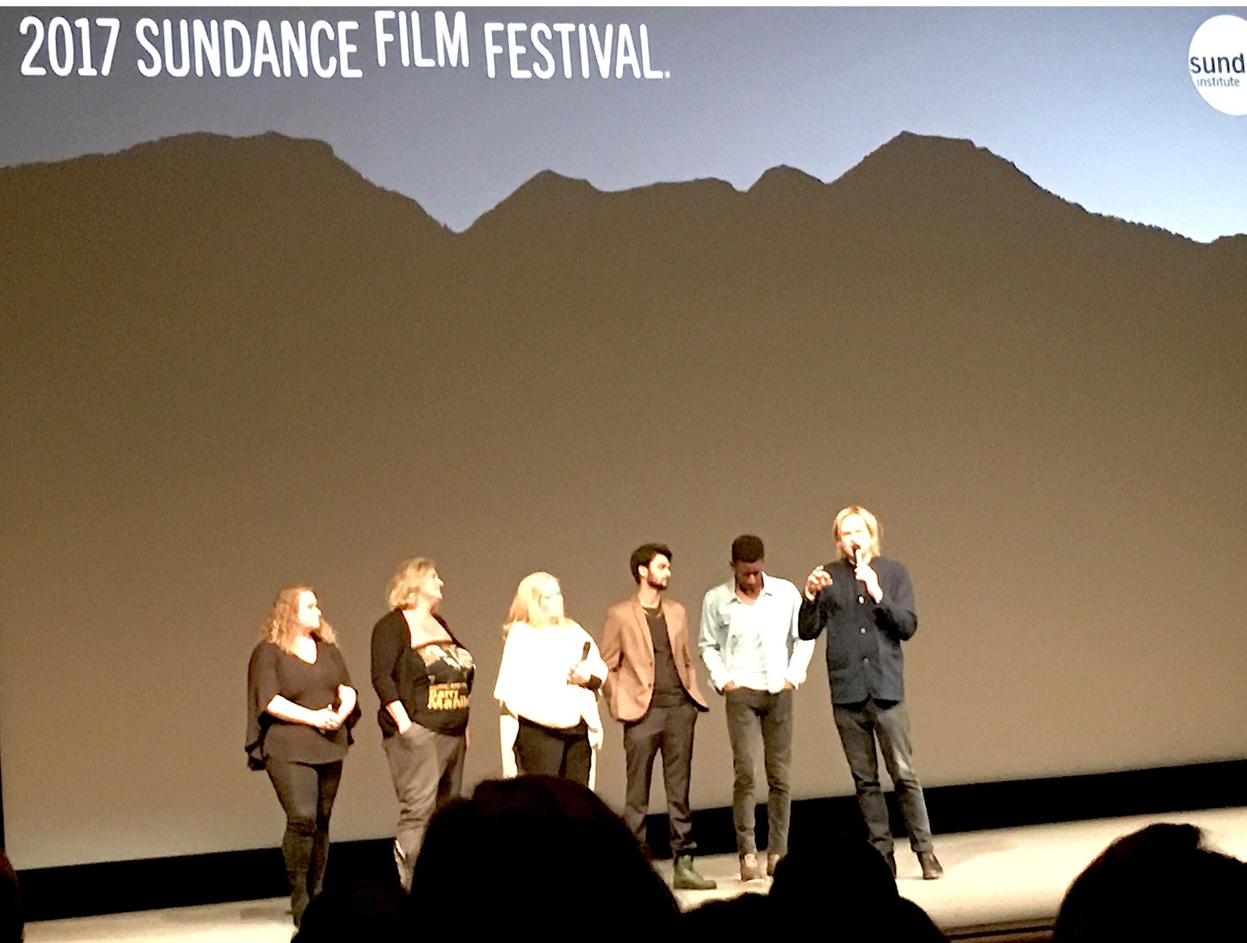 Director Geremy Jasper with Cast of Patti Cake$