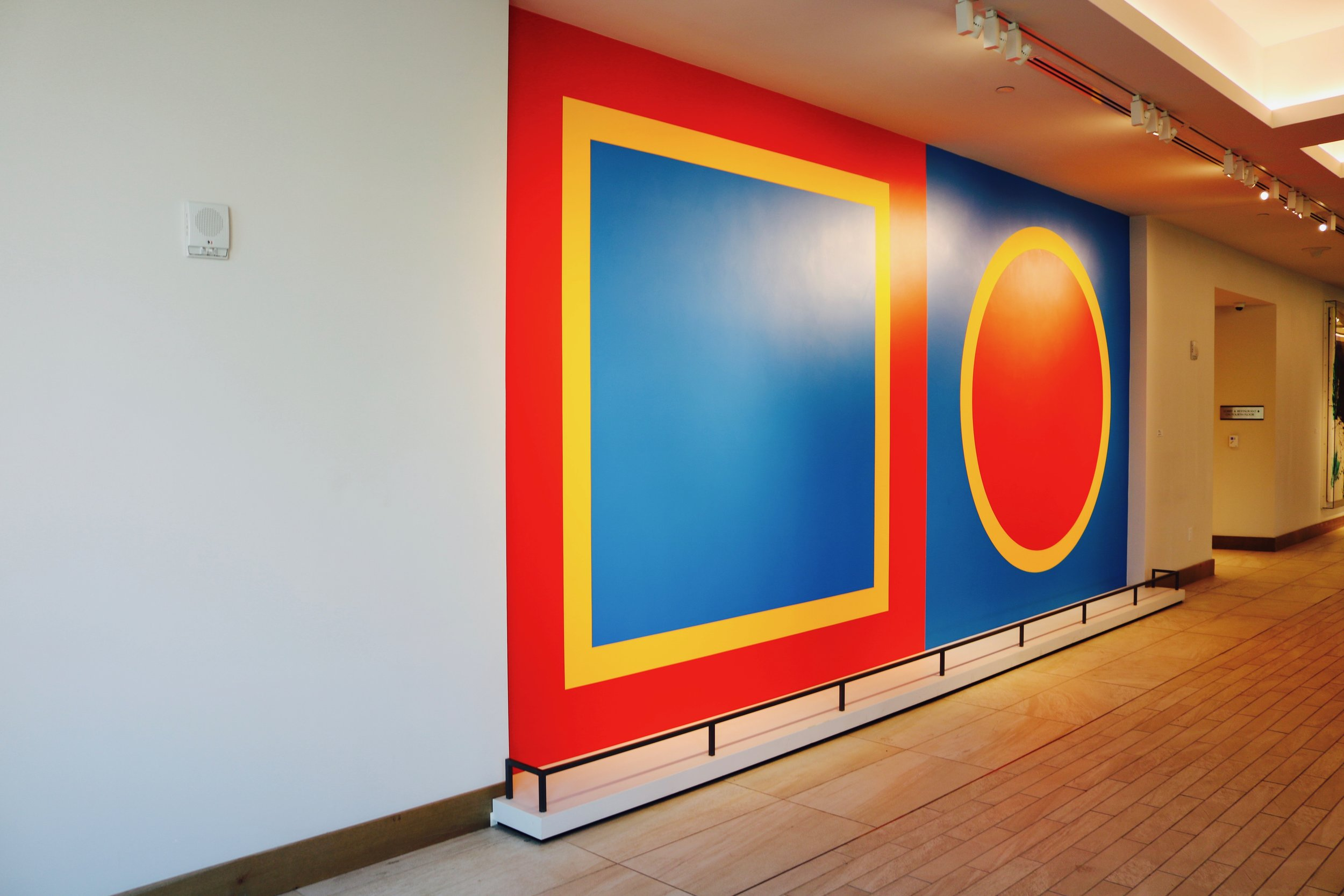 """Artist: Sol Lewitt """"Wall Drawing #397,"""" 1983 Photo by: DJB for TBOT"""