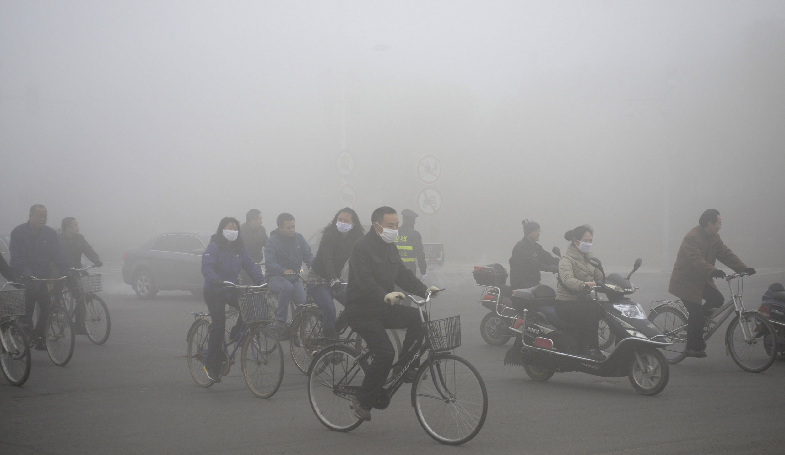 Beijing, China smog red alert