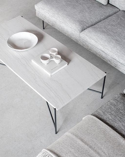 Croft House white stone coffee table