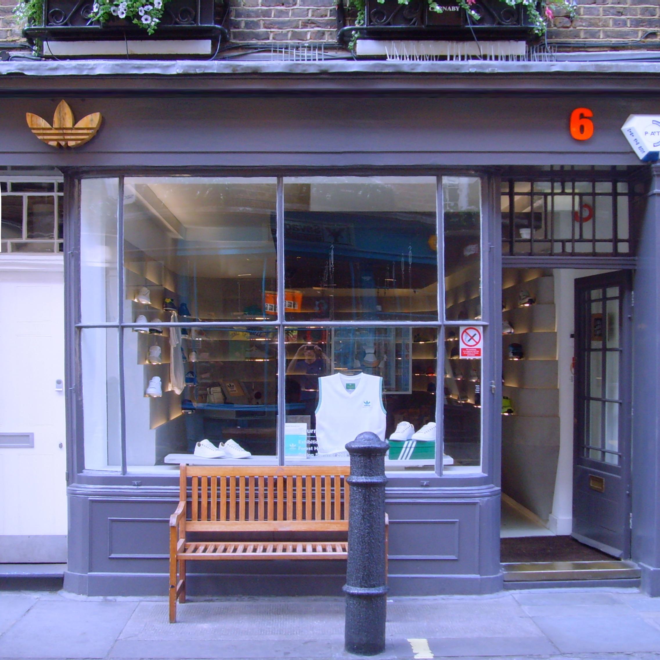 adidas store design, Carnaby Street London