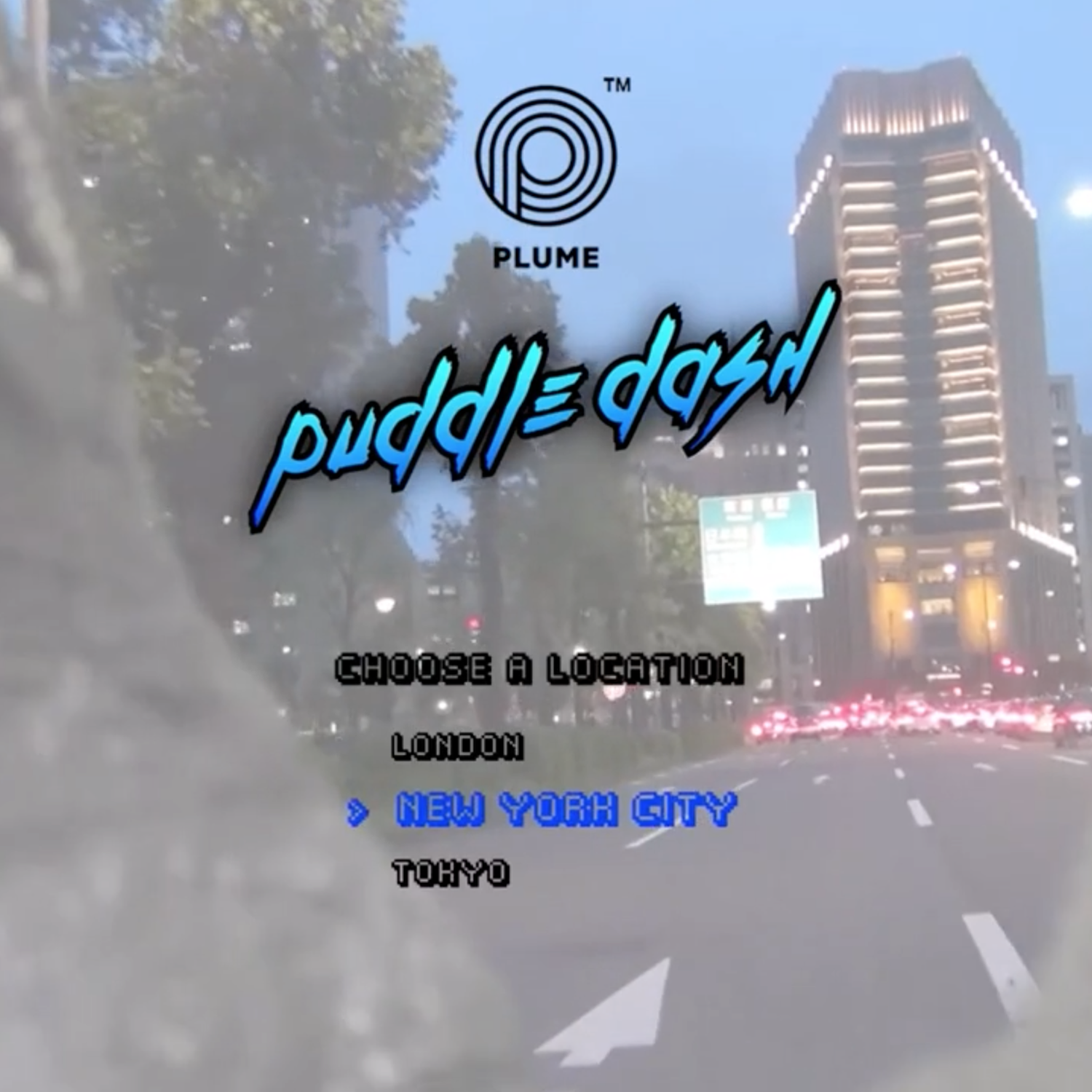 'Puddle Dash' the Plume mudguard video game