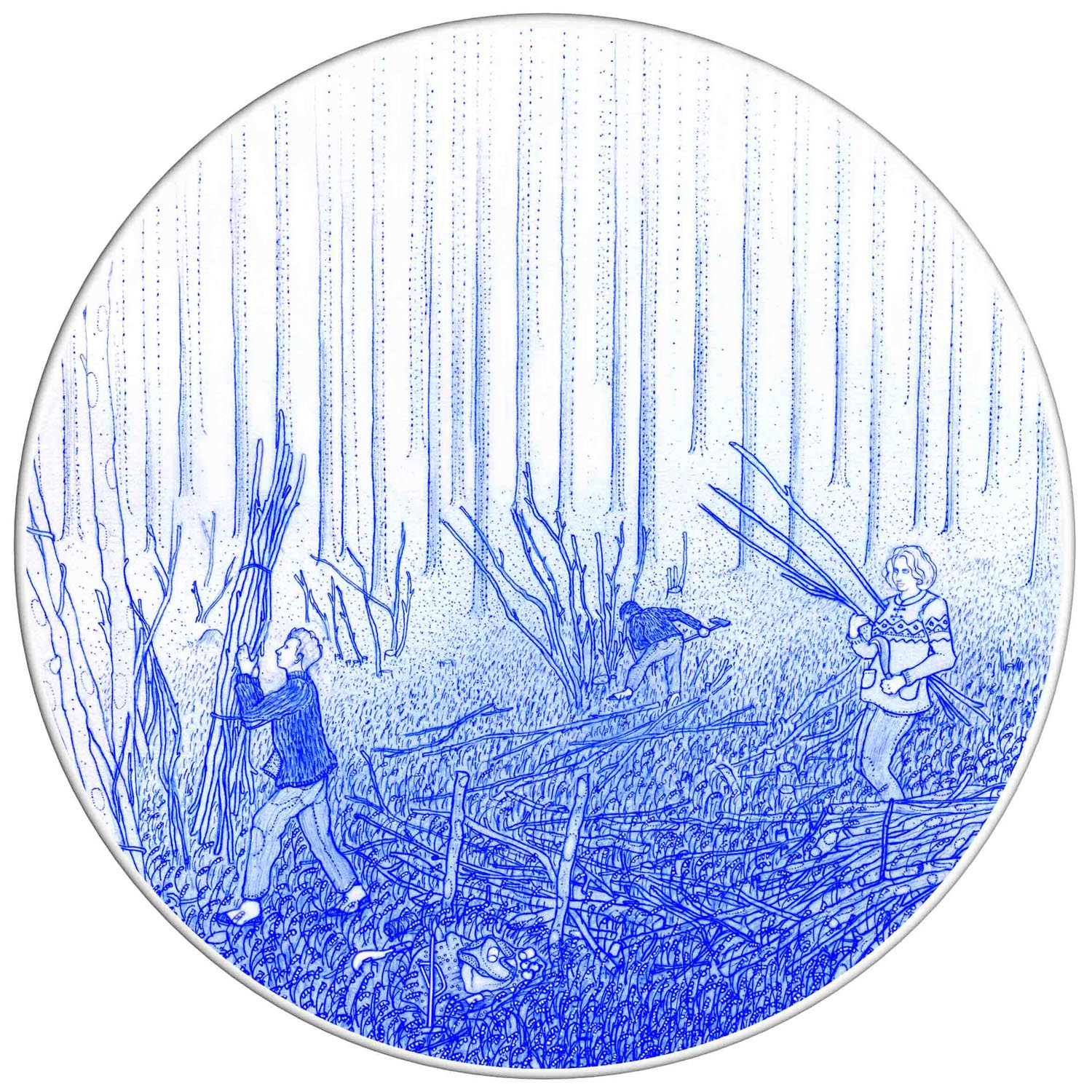 Coppicing dinner plate