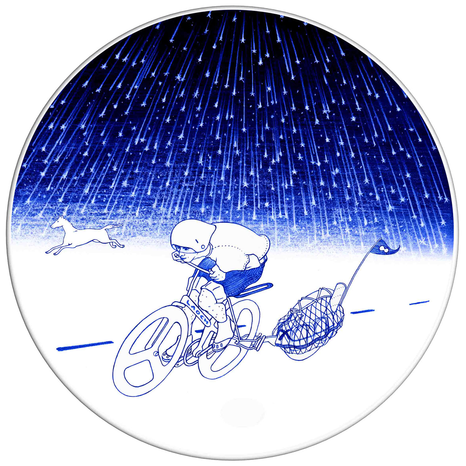 Night cycling dinner plate
