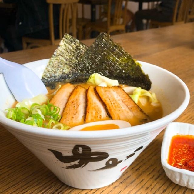 Introducing our Miso ramen today 🍜 Our Miso broth is made with pork bone broth and Japanese Hokkaido miso. The miso ramen's origin is Sapporo, Hokkaido, Japan!  Miso is great for promoting metabolism and circulation of blood. It's very good when you are trying to get rid of a cold 🤧 we highly recommend it if you are looking for something healthy and full of flavor! Our Miso ramen includes a secret sauce with garlic that that will make you come back for more😋🍜🥢🇯🇵 #yuzuramenandbroffee #yuzuramenandtaproom #organic #organicramen #bonebroth #homemadenoodles #noodles #misoramen #miso #tonkotsuramen #gyukotsuramen #veggieramen #happyhour #loveeating #ramenlover #foodie #doofinsta #eastbayeats #bayareaeats #sanrafael #emeryvilleeats #sushi #gyoza #cucumbersalad #yakimeshiespecial #grassfed #pastureraised #glutenfreenoodle #dessert #localbeer
