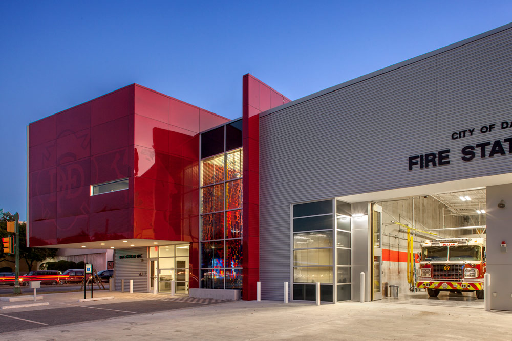 Dallas Fire Station 27 in Texas designed by Fire Station Design Expert TCA Architecture