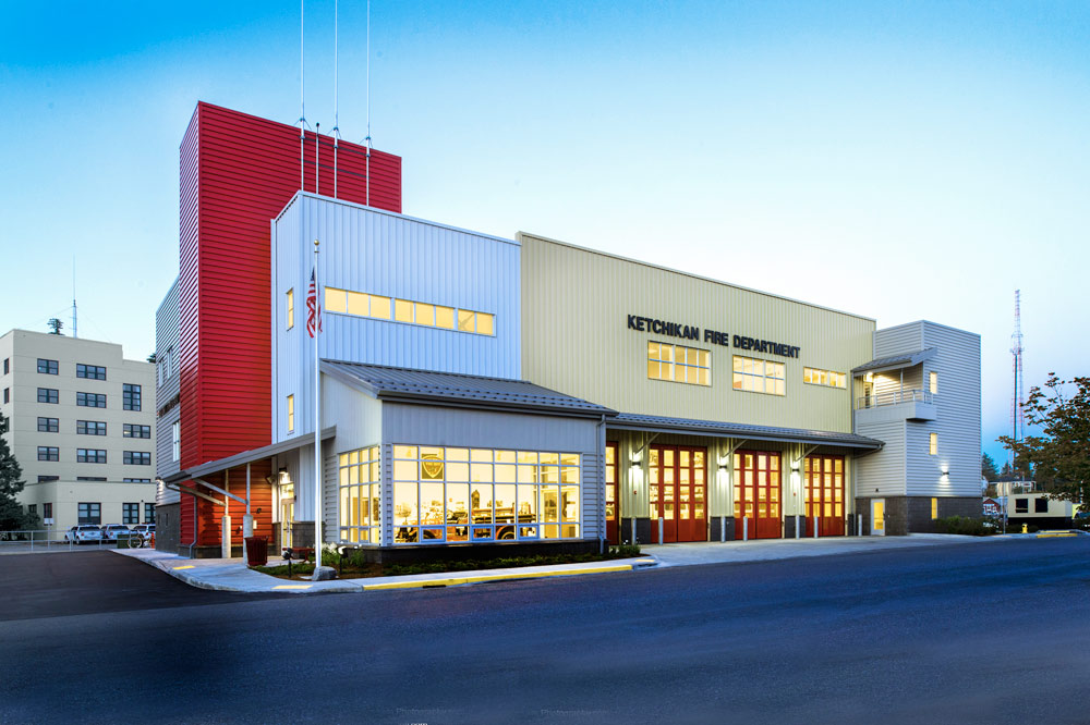 Ketchikan Fire Station 1 designed by Seattle Fire Station Design Expert TCA Architecture