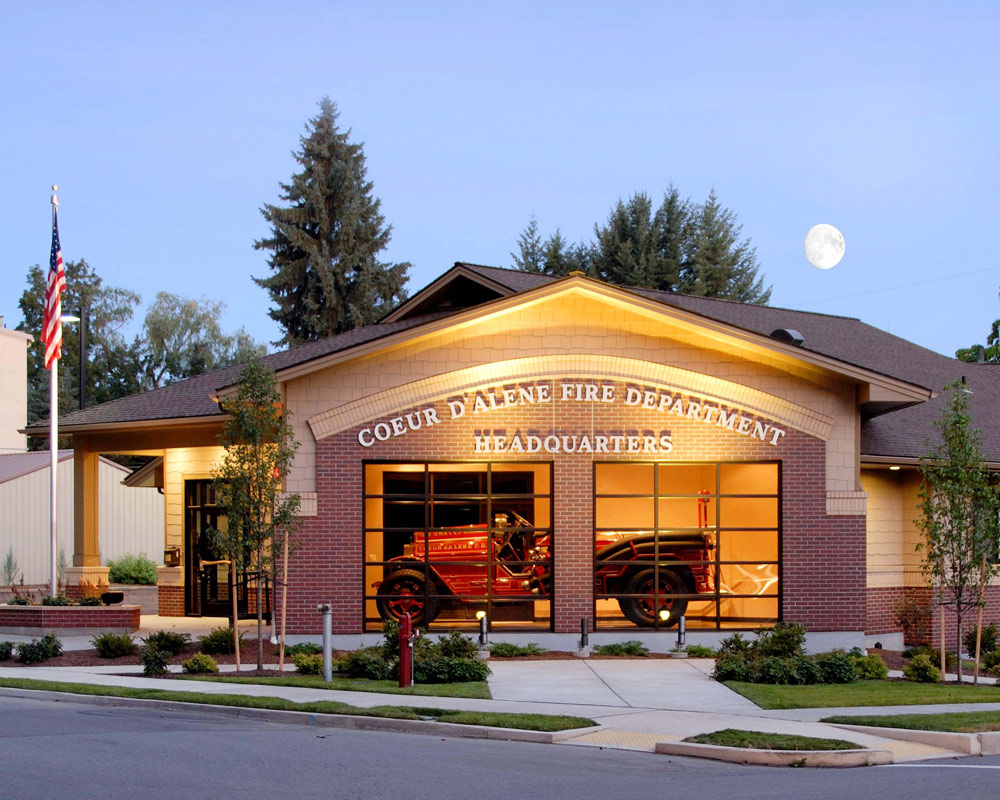City of Coeur d'Alene Fire Station 3 by Seattle Fire Station Design Expert TCA Architecture