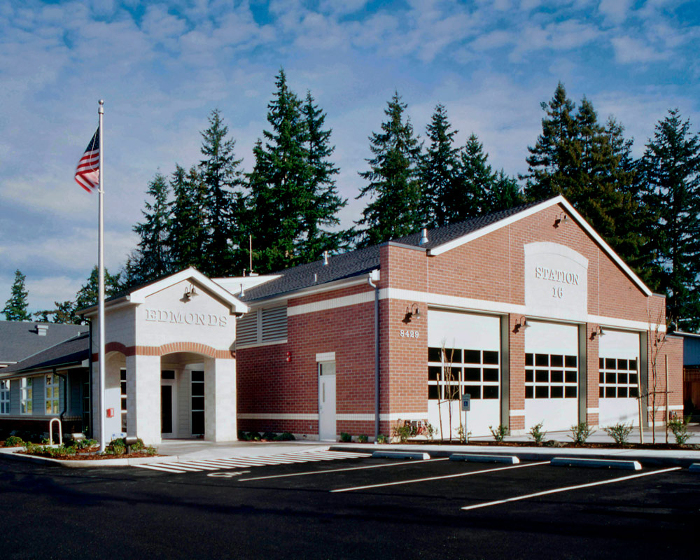 City of Edmonds Fire Station 16 by Seattle Fire Station Design Expert TCA Architecture