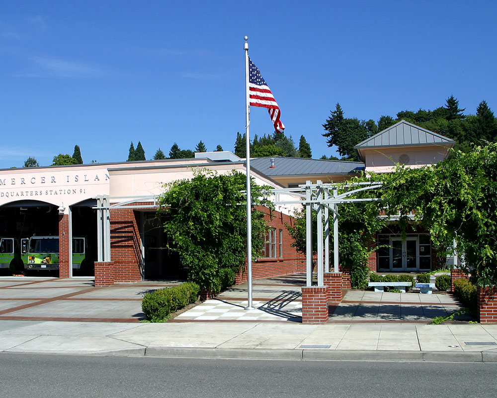 City of Mercer Island Fire Station 91 by Seattle Fire Station Design Expert TCA Architecture