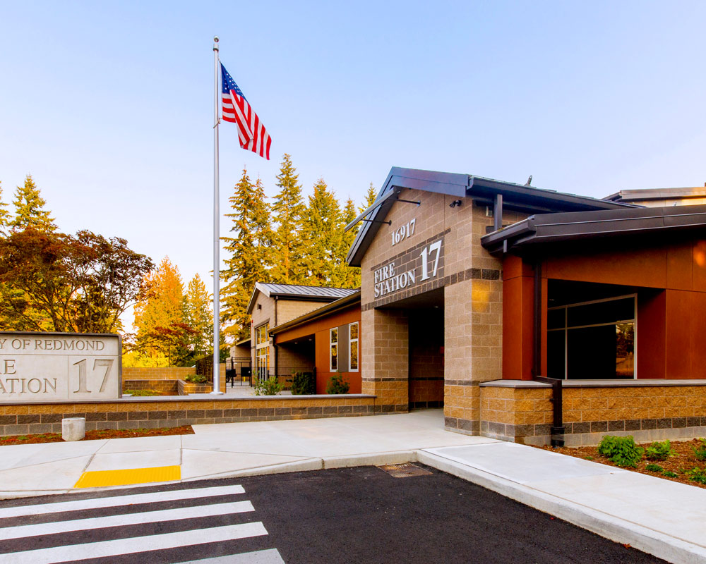 City of Redmond Fire Station 17 by Seattle Fire Station Design Expert TCA Architecture