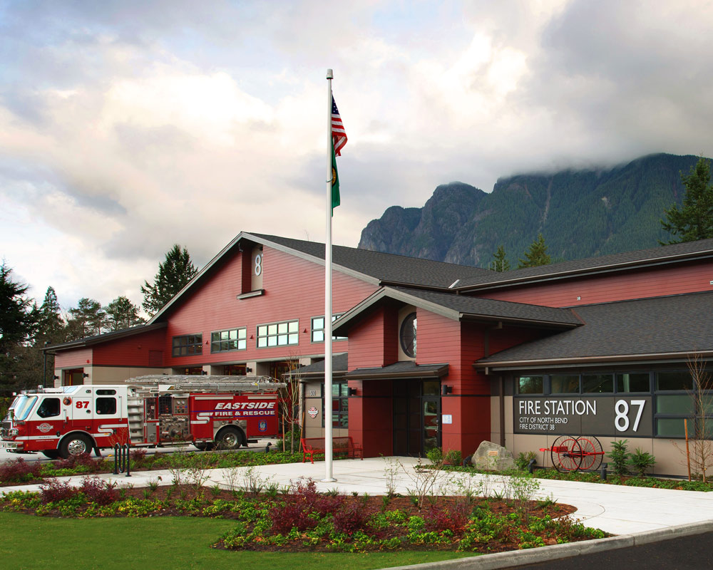 North Bend Fire Station 87 by Seattle Architect TCA Architecture