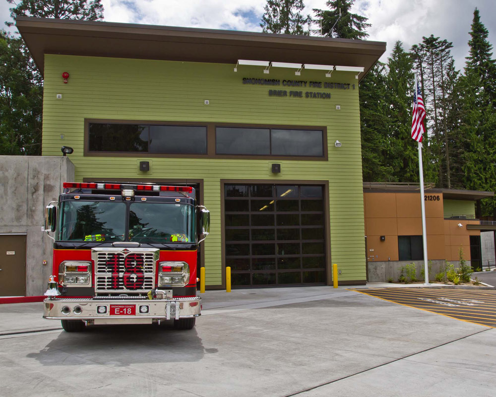 Snohomish County Brier Fire Station 18 by Seattle Fire Station Design Expert TCA Architecture