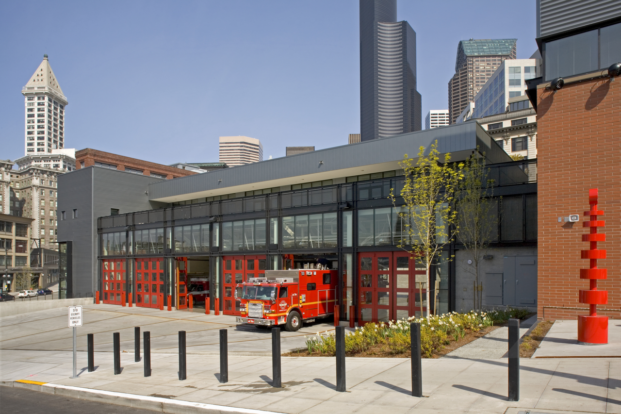 City of Seattle Fire Station 10 by Seattle Fire Station Design Expert TCA Architecture