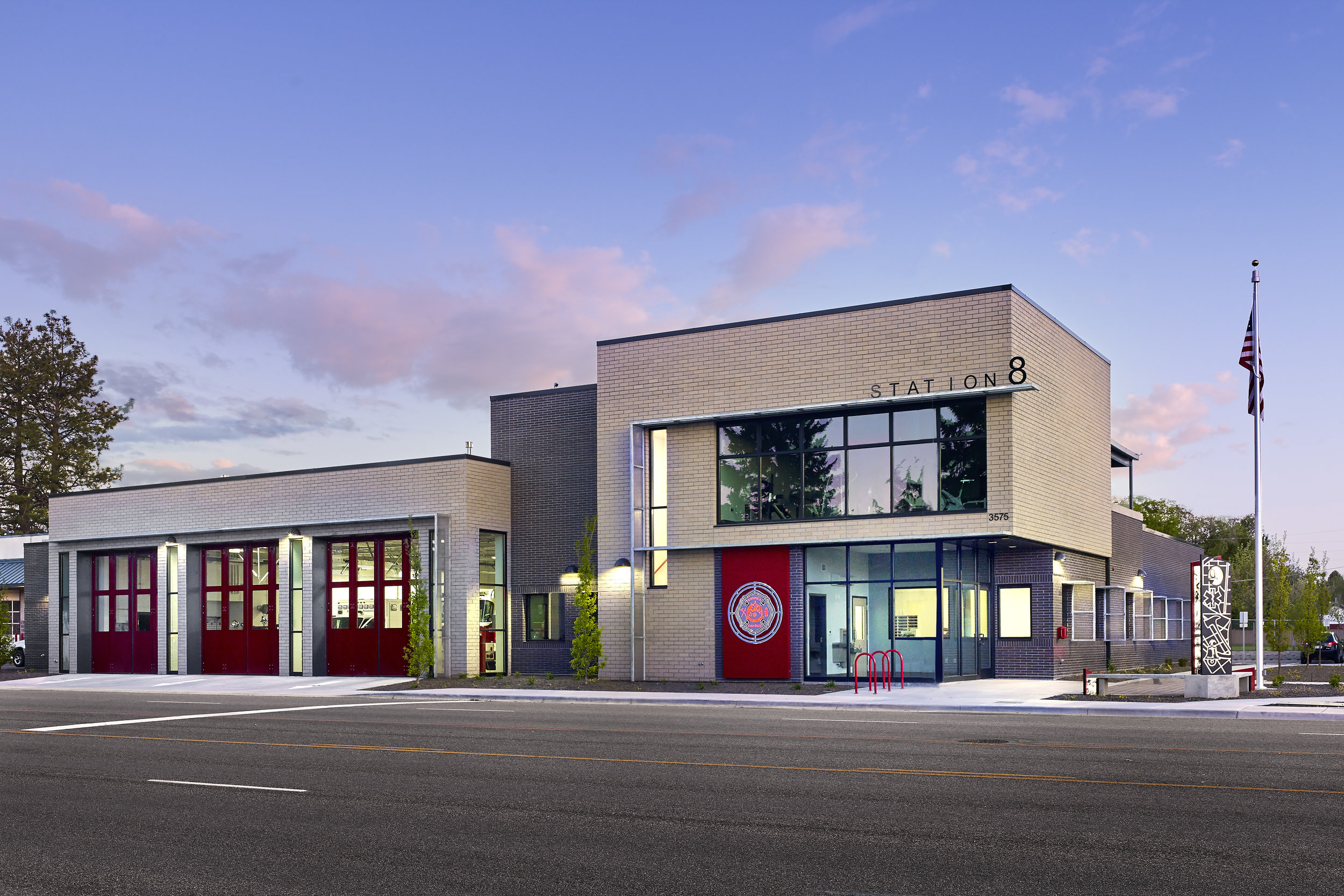 City of Boise Fire Station 8 designed by Fire Station Design Expert TCA Architecture