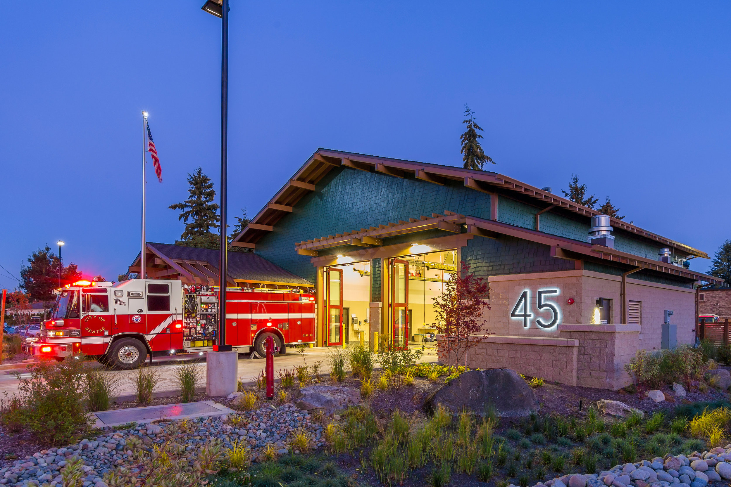 SeaTac Fire Station 45 by Seattle Fire Station Design Expert TCA Architecture