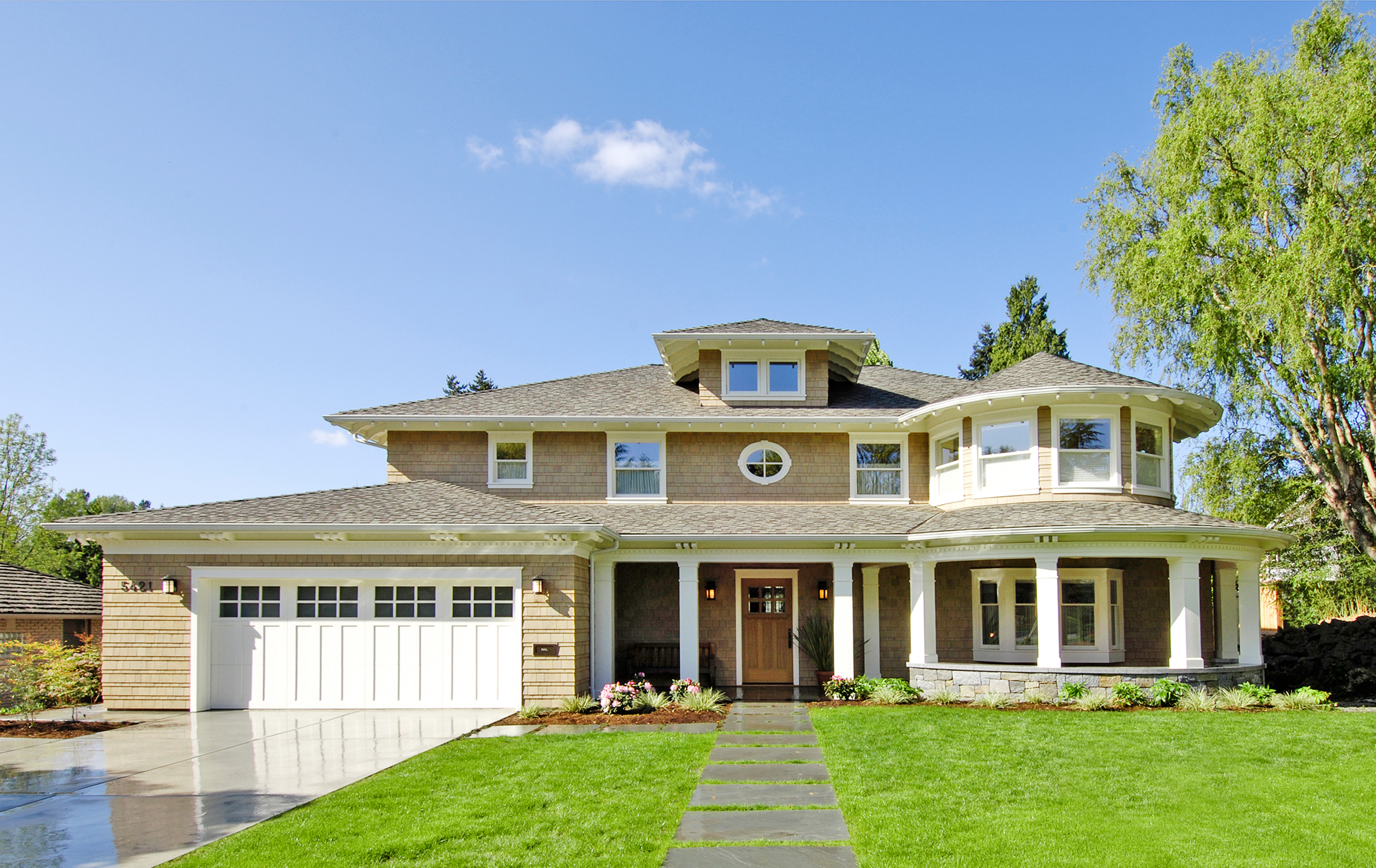 Seattle Residential Architect TCA Architecture designed this beautiful high end Windermere Residence