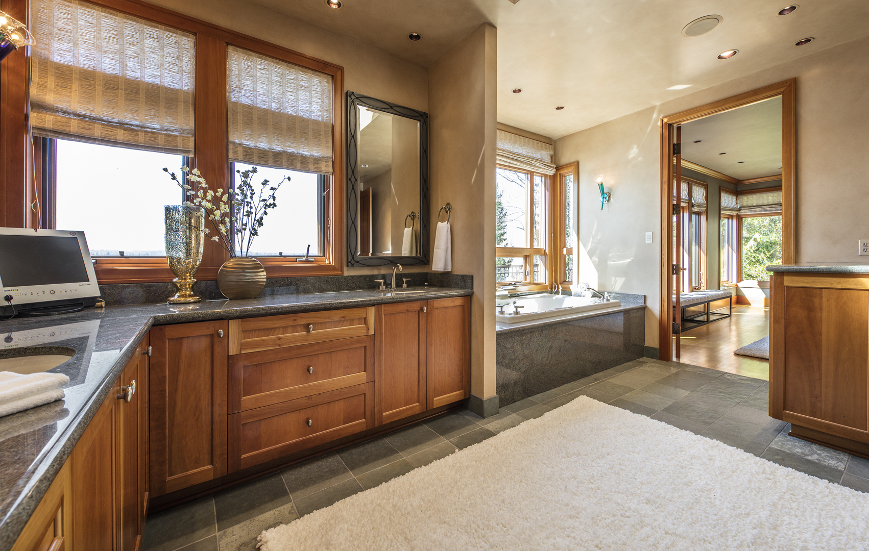 Photo of Master Bathroom in PNW home designed by a Seattle Residential Architect