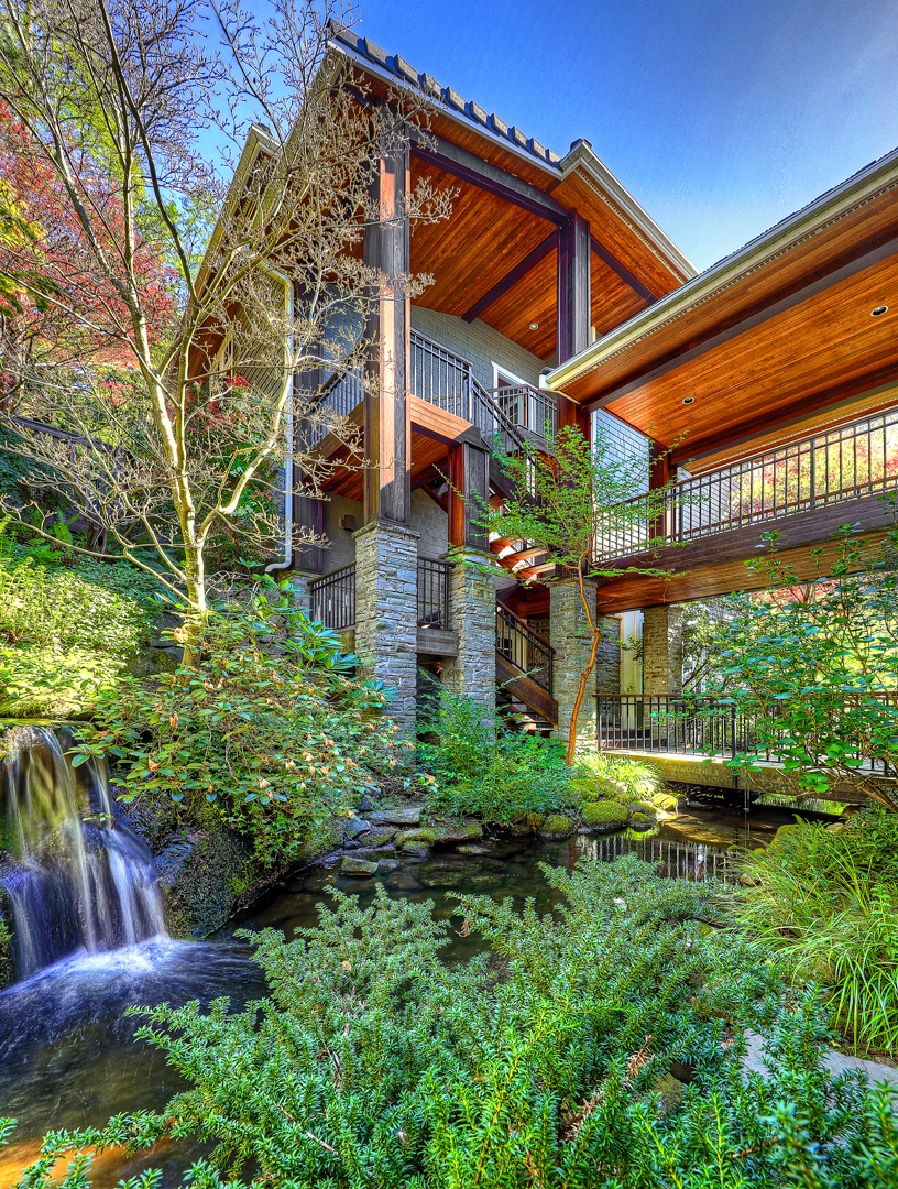 Gorgeous PNW home with a waterfall designed by a Seattle Residential Architect