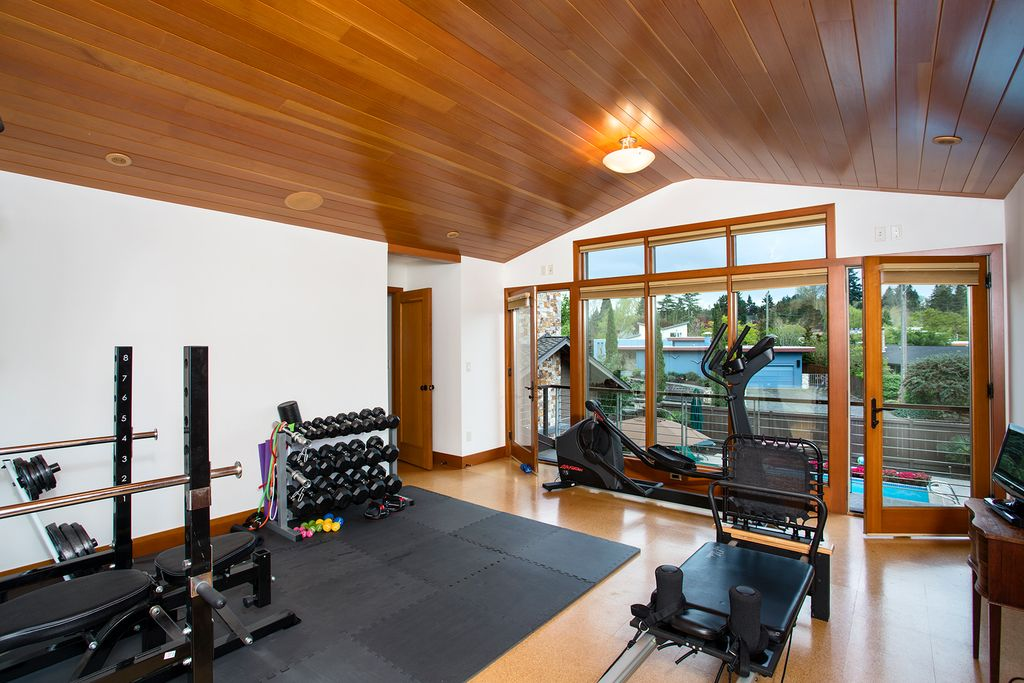 Home gym design by Seattle architecture firm TCA Architecture