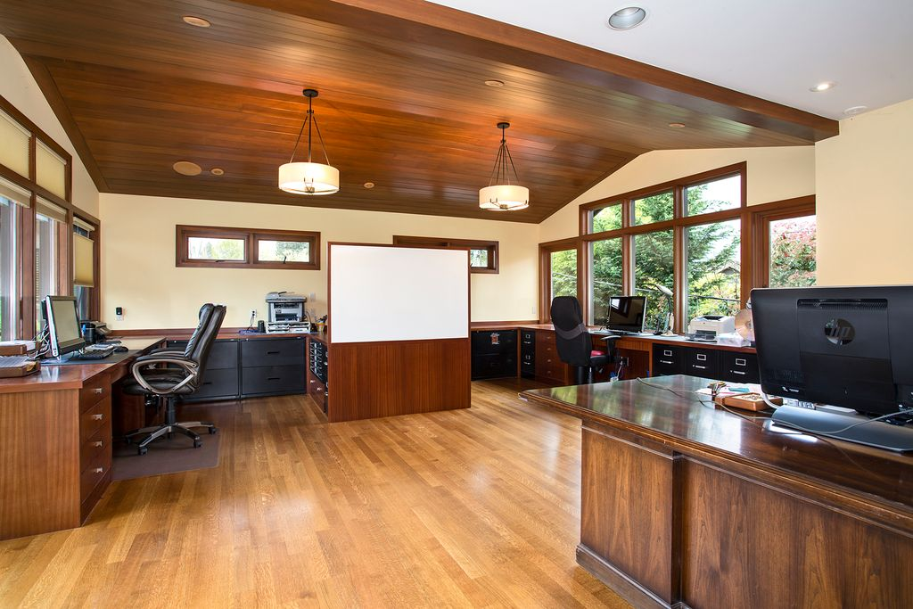 Home office design by Seattle architecture firm TCA Architecture