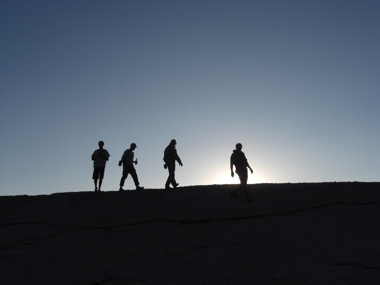 Climbers descend Lembert Dome, Tuolumne Meadows, California. (Photo by Emily Stifler Wolfe)