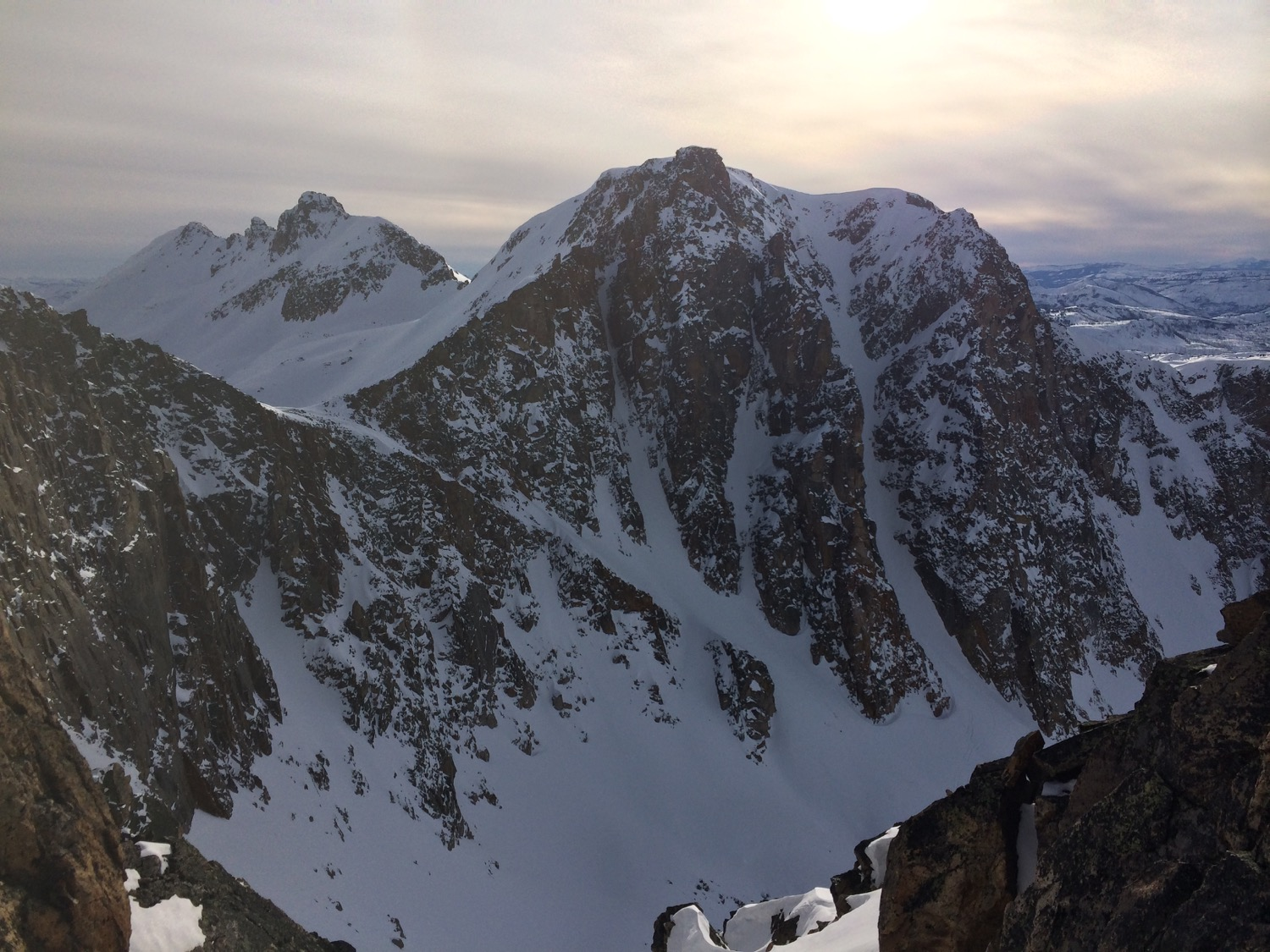 A couloir outside of Cooke City, Montana. (Photo by Emily Stifler Wolfe)