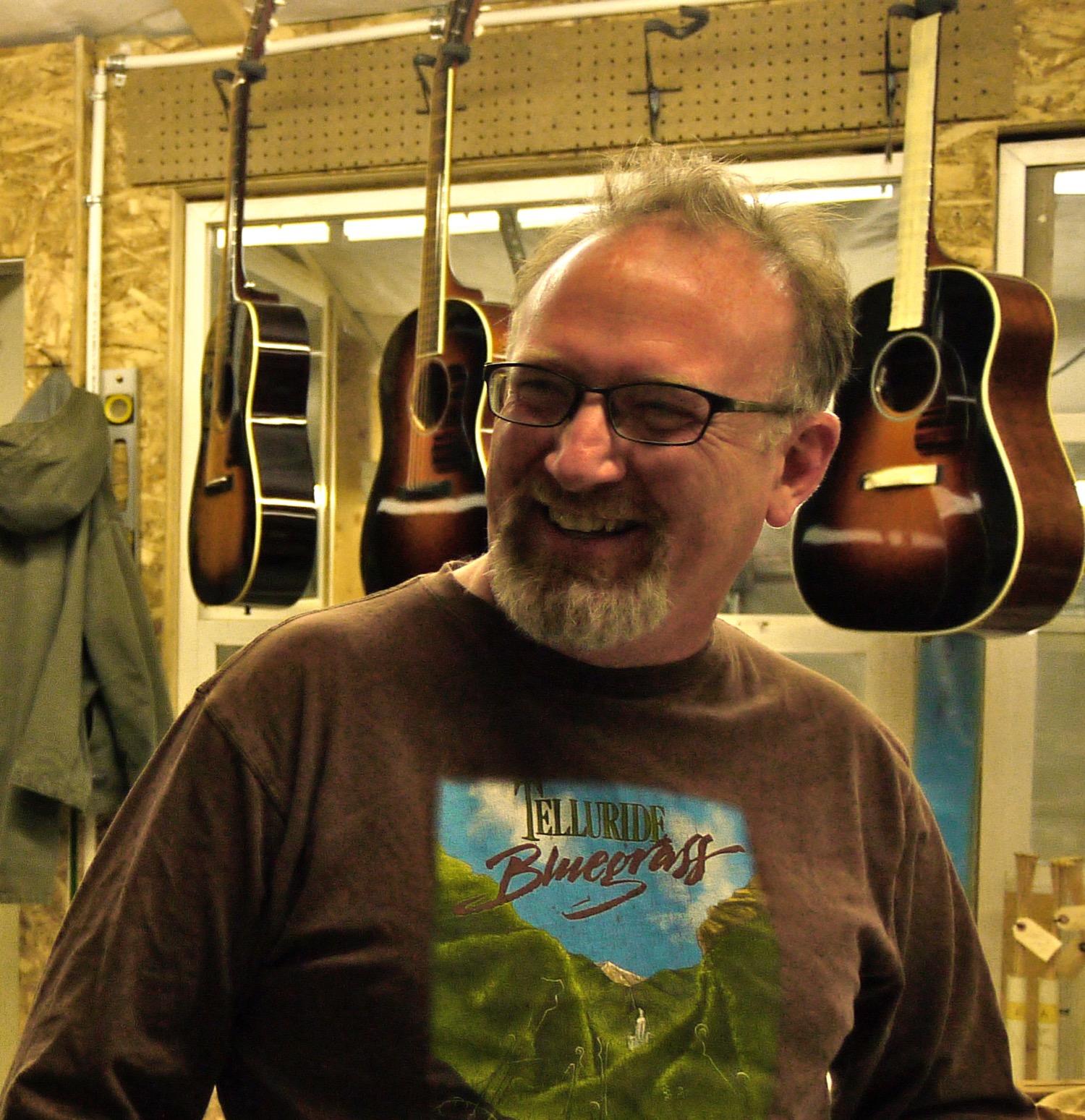 Craftsman guitar maker Dan Roberts. (Photo by Emily Stifler Wolfe)