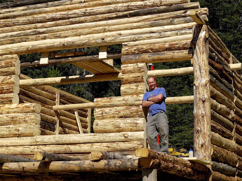 Ben Zavora at the Beartooth Powder Guides' Woody Creek Cabin. (Photo by Emily Stifler Wolfe)